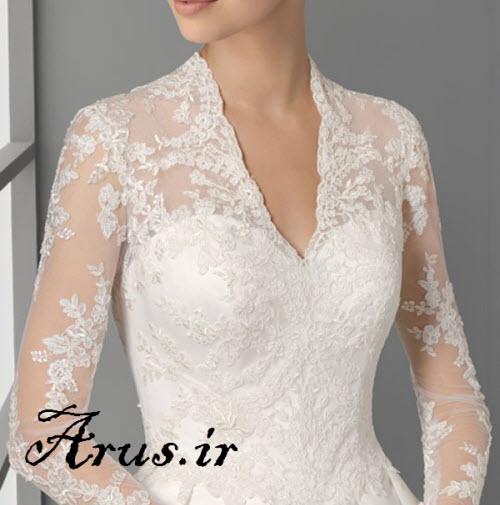 یقه لباس عروس